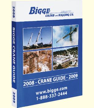 Equipment guide for Bigge crane rental