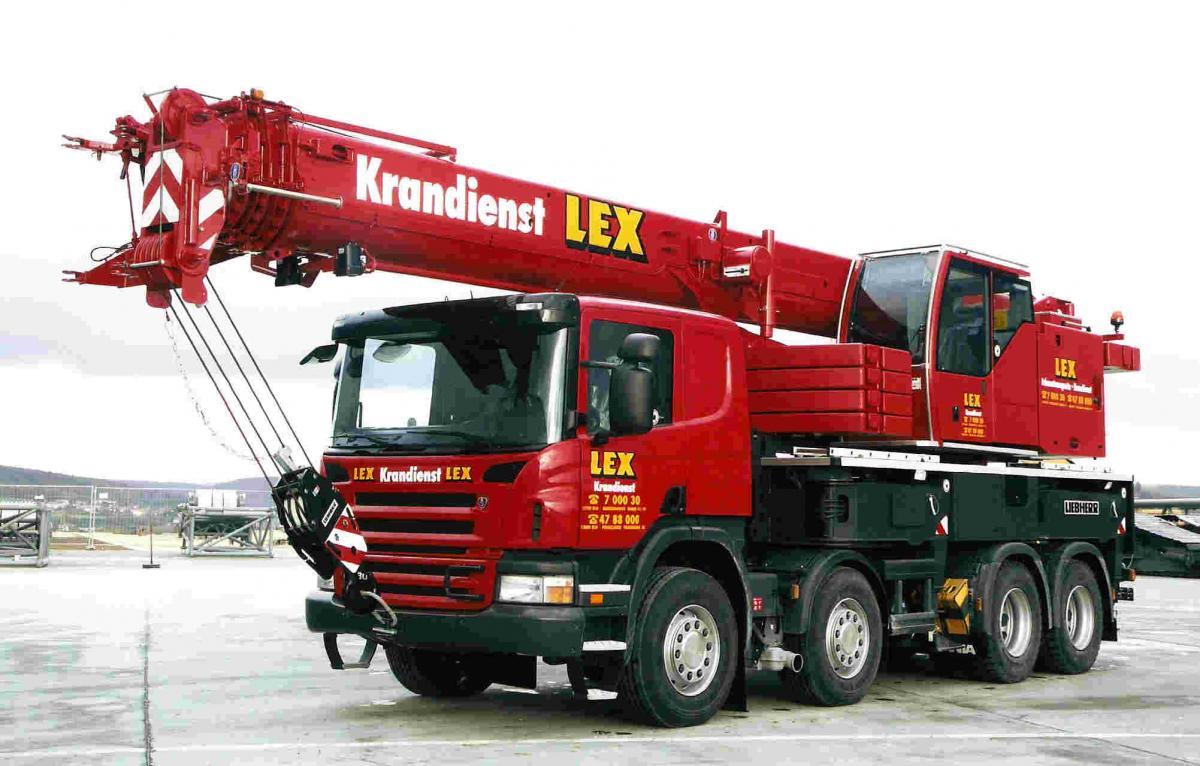 Kran gestohlen: Liebherr LTF 1045-4.1 von Kranvermietung Lex in Berlin