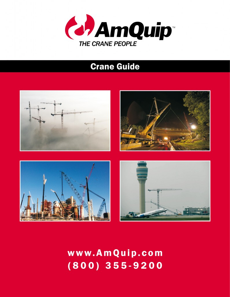 Crane load chart book for AmQuip