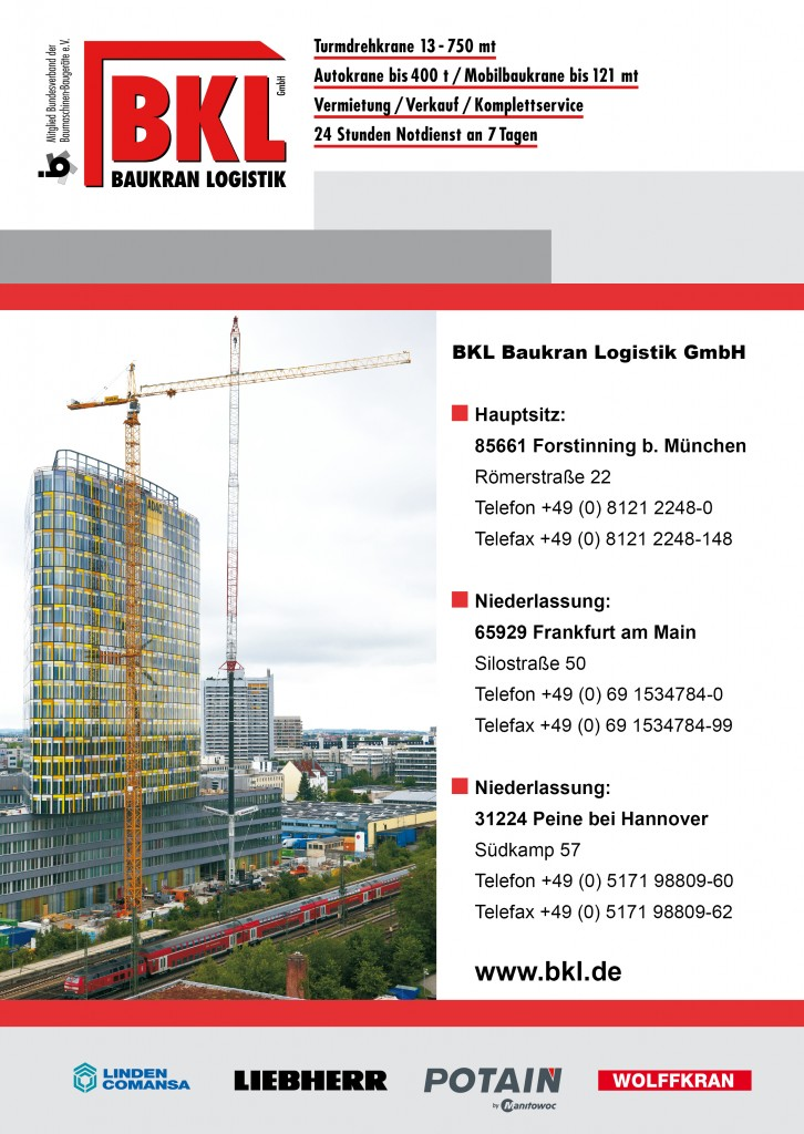 BKL Baukran-Logistik - Mobile and Tower crane guide 2012