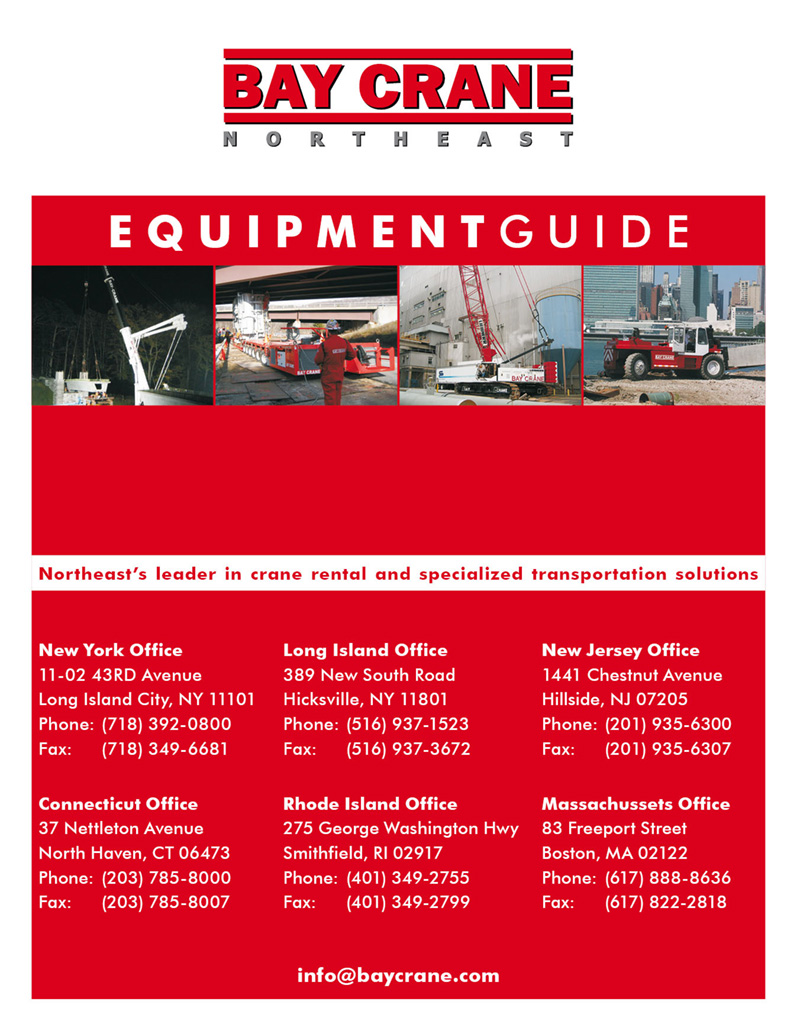 Fourth equipment guide for Bay Crane, New York