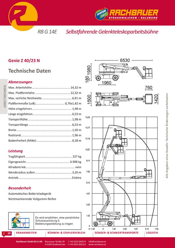 Equipment hire catalogue - Access platform
