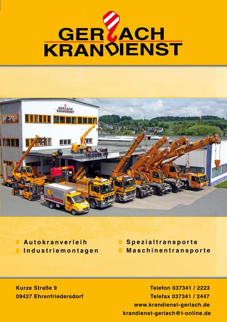 Firmenpräsentation erstellt für Gerlach Krandienst