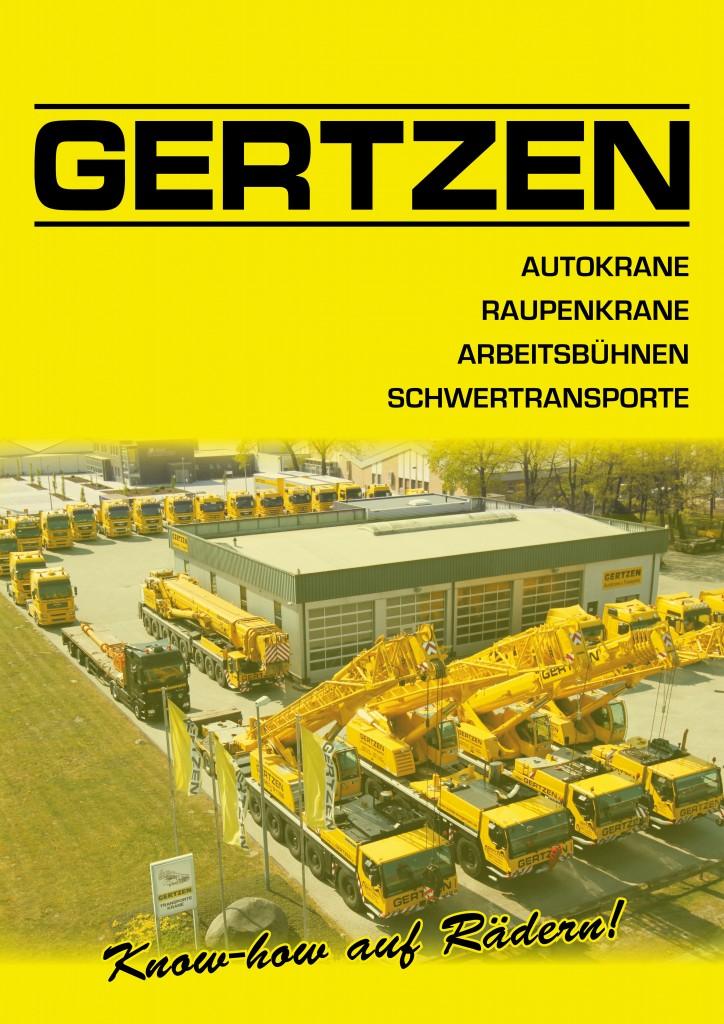 Imagebroschüre erstellt für Gertzen Autokrane