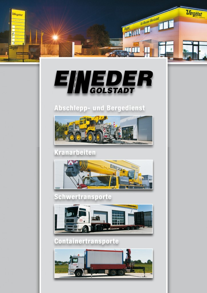 Design and print of a corporate brochure for Eineder towing service