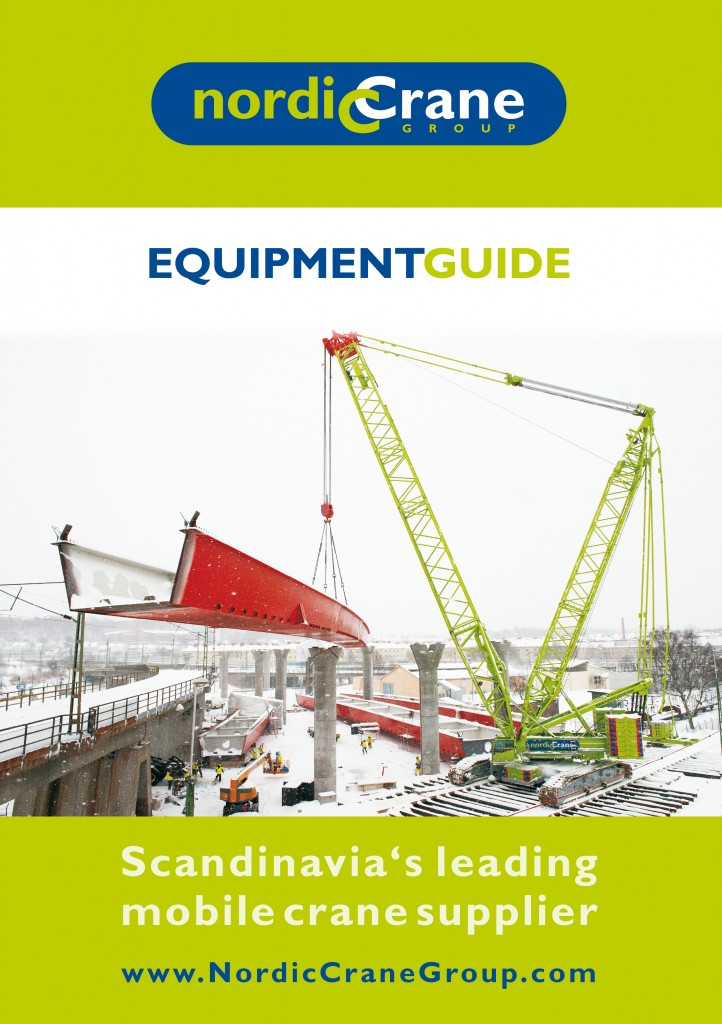 Crane load chart book for Nordic Crane Group