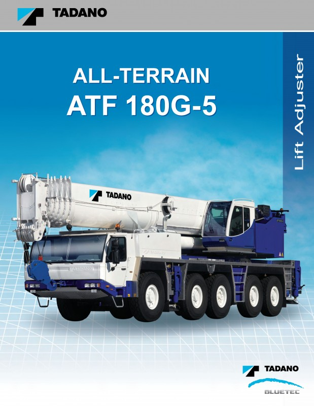 Setup of the crane brochure ATF 180G-5 US for Tadano cranes