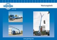 Crane maintenance booklet for Greving crane hire