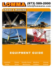 Equipment rental catalog for Lomma Crane & Rigging